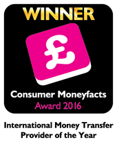 2016 Consumer Moneyfacts International Money Transfer Provider of the Year
